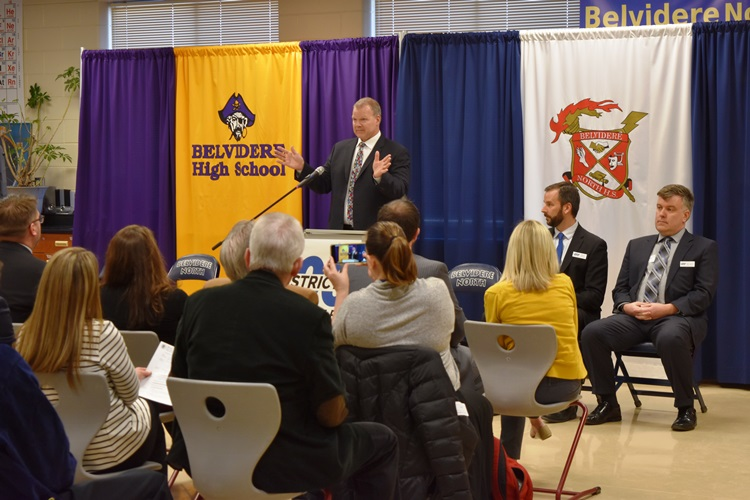 State+Superintendent+of+Education+Dr.+Tony+Smith+speaks+at+Belvidere+North+to+announce+the+six+districts+joining+the+competency+based+education+pilot%2C+including+BCUSD+100.