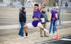 Boys track places second in triangular meet