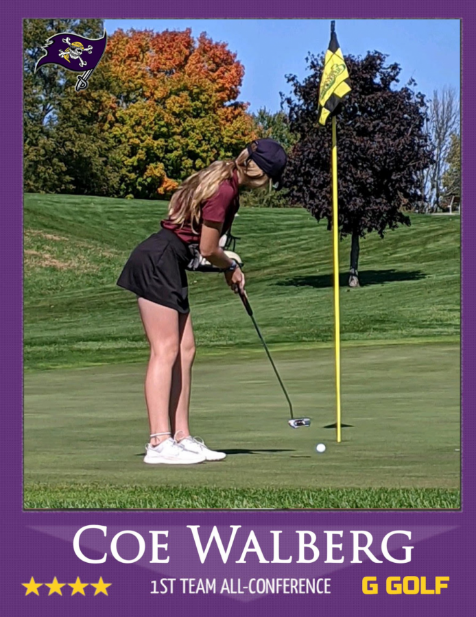 Walberg advances to sectionals for girls golf
